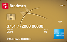 Cartão de Crédito Bradesco Gold American Express®